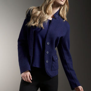 Eileen Fisher M Felted Wool Double Knit Jacket